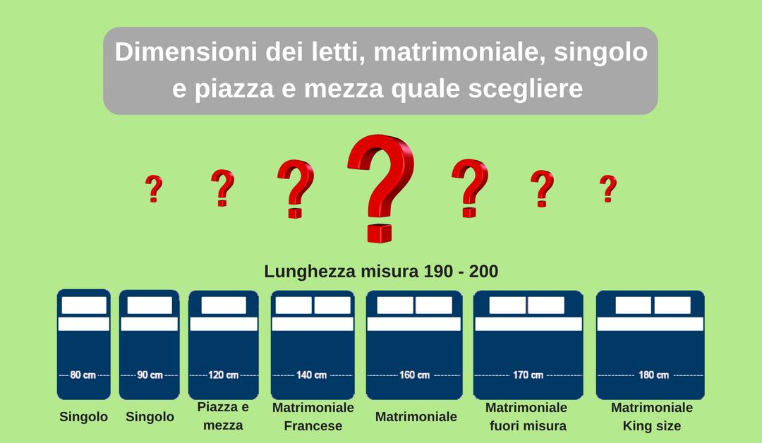 Dimensioni del letto matrimoniale, singolo e piazza  e mezza: come scegliere la misura giusta per te