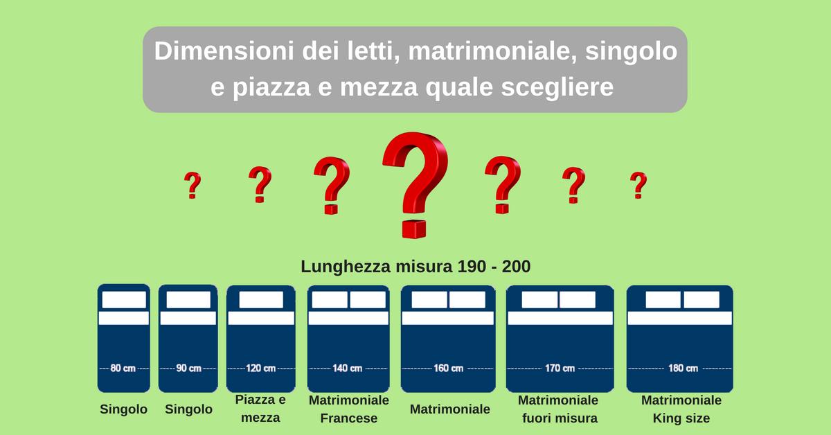 Misure Materassi Standard.Dimensioni Del Letto Matrimoniale Singolo E Piazza E Mezza Come